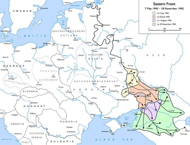 A map of Fall Blau